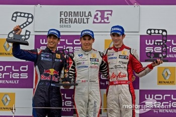 Podium From Left: Daniel Ricciardo, Robert Wickens and Alexander Rossi