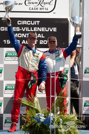 GT podium: class winners Robin Liddell and Ronnie Bremer