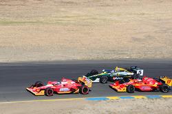 Marco Andretti, Andretti Autosport, Takuma Sato, KV Racing Technology-Lotus and Martin Plowman, AFS/Sam Schmidt Motorsports