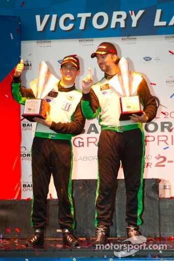 GTC podium: class winners Tim Pappas and Jeroen Bleekemolen