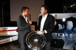 Will Buxton with Alejandro Agag, Addax collecting the GP2 team champions trophy
