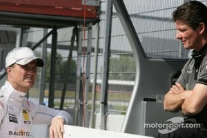 Ralf Schumacher, Team HWA AMG Mercedes C-Klasse with his engineer