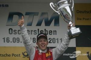 Race winner Mattias Ekstrom - Audi