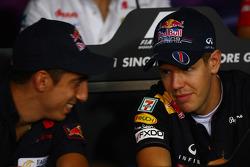 Sebastien Buemi, Scuderia Toro Rosso and Sebastian Vettel, Red Bull Racing