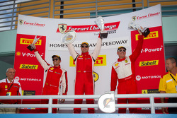 430 podium: class winner #4 Ferrari of Silicon Valley Ferrari F430 Challenge: Chris Ruud, second place #89 Ferrari of Ontario Ferrari F430 Challenge: Ryan Ockey, third place #31 Ferrari of Ontario Ferrari F430 Challenge: Damon Ockey