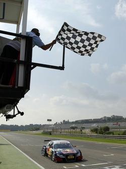 Race winner Mattias Ekström, Audi Sport Team Abt Sportsline