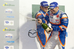 P1 podium: Nicolas Lapierre and Nicolas Minassian celebrate