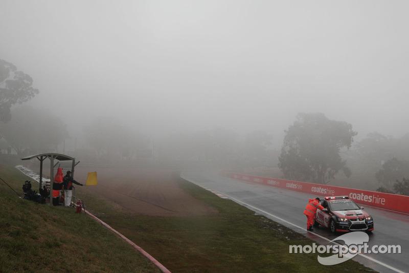Fog stops practice action