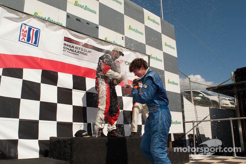 GT3 Cup Gold Class Podium: Michael Mills, Eduardo Cisneros, Madison Snow