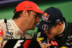 Sebastian Vettel, Red Bull Racing and Jenson Button, McLaren Mercedes