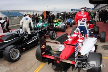 Alexander Sims and Jack Harvey in Parc Ferme