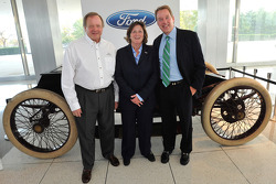 Edsel Ford II, Member of the Board of Directors of Ford Motor Company; Elena Ford, director of Global Marketing, Sales and Service Operations; and William Clay Ford Jr., Executive Chairman of Ford Motor Company celebrate the 110th anniversary of Ford Raci