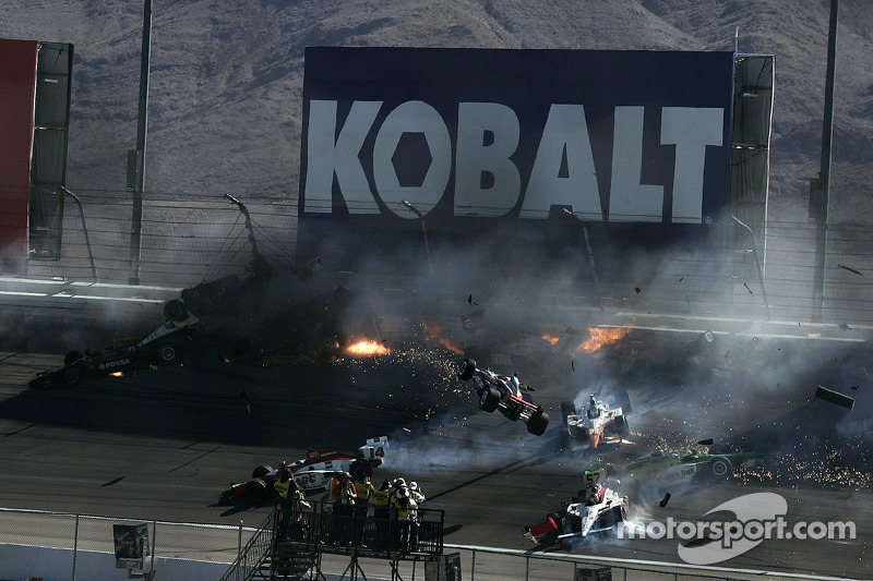 The horrific 15-car crash that took the life of Dan Wheldon