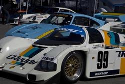 Porsche on display om the paddock