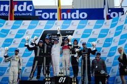 Race podium celebrations