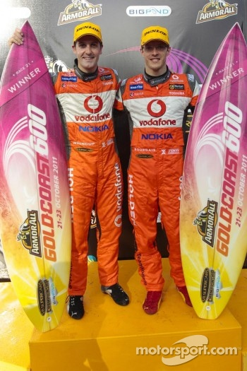 Podium: race winners Sébastien Bourdais and Jamie Whincup