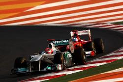 Michael Schumacher, Mercedes GP Petronas F1 Team, Fernando Alonso, Scuderia Ferrari