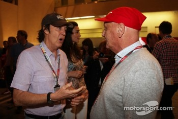 Paul McCartney with Niki Lauda