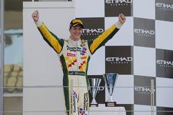 Podium: race winner James Calado