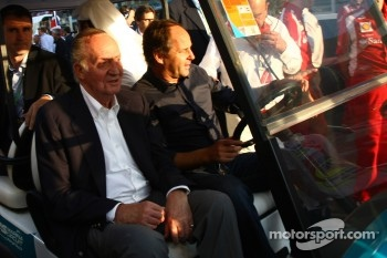 King Juan Carlos I of Spain with Gerhard Berger