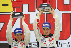Podium: race winners Sébastien Bourdais, Anthony Davidson