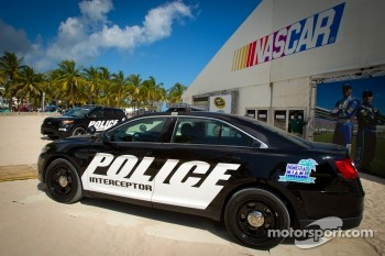 NASCAR Championship Drive in South Beach: Ford Police Interceptor pace car on display