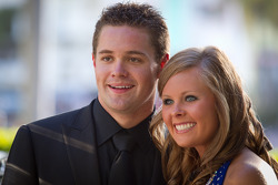 NASCAR Nationwide Series champion driver Ricky Stenhouse Jr., Roush-Fenway Ford with guest