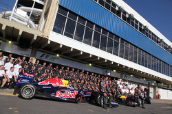 The red bull team with Mark Webber, Red Bull Racing and Sebastian Vettel, Red Bull Racing