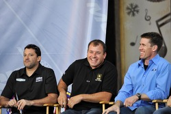 Tony Stewart, Ryan Newman and Carl Edwards