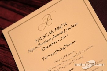The NASCAR awards luncheon