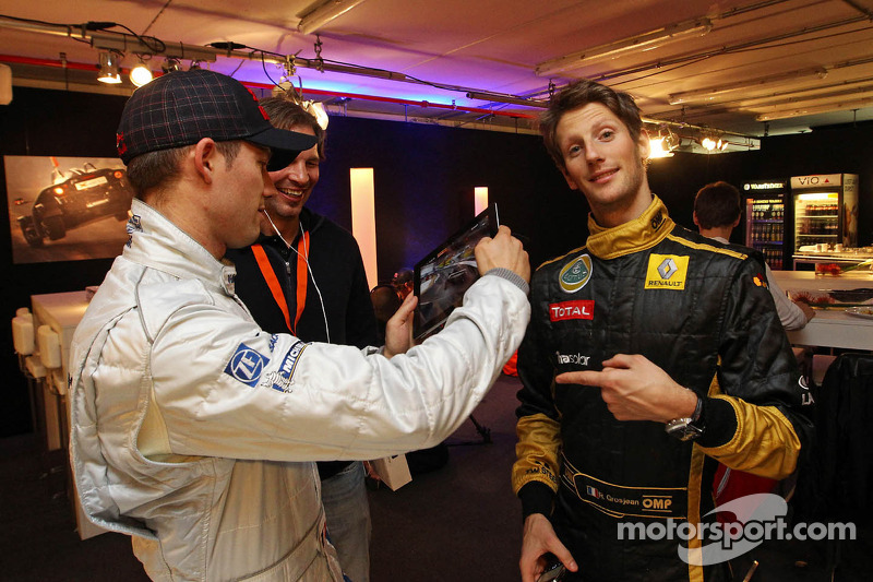 Romain Grosjean and Sébastien Ogier