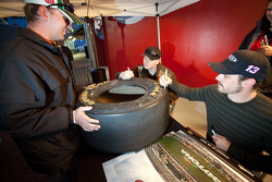 Autograph session: Michael McDowell and Casey Mears, Germain Racing Ford
