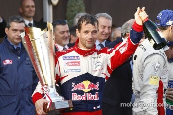 Podium: winner Sébastien Loeb, Citroën Total World Rally Team