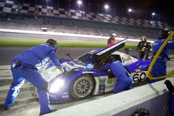 Pit stop for #60 Michael Shank Racing with Curb-Agajanian Ford Riley: A.J. Allmendinger, Oswaldo Negri, John Pew, Justin Wilson