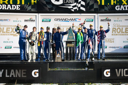DP podium: class and overal winners A.J. Allmendinger, Oswaldo Negri, John Pew, Justin Wilson, third place Jorge Goncalvez, Michael McDowell, Felipe Nasr, Gustavo Yacaman