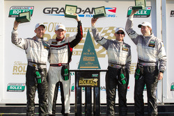 GT victory lane: class winners Andy Lally, Richard Lietz, John Potter, Rene Rast celebrate
