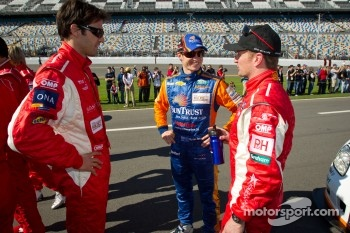 Lucas Luhr, Ryan Briscoe and Allan McNish