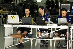 Yamaha Tech 3 engineers