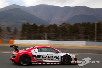 Cyndie Allemann tests the Hitotsuyama Racing Audi R8 LMS Super GT car