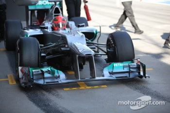 Michael Schumacher, Mercedes GP nose cone