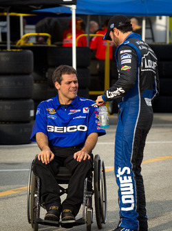 Jimmie Johnson, Hendrick Motorsports Chevrolet with Bootie Barker