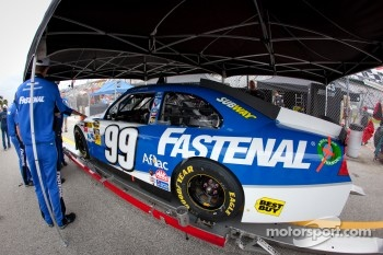 Car of Carl Edwards, Roush Fenway Racing Ford at technical inspection