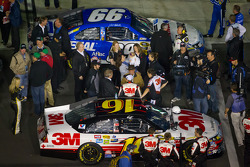 Pole winning car of Carl Edwards, Roush Fenway Racing Ford and second qualifier car of Greg Biffle, Roush Fenway Racing Ford