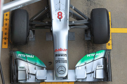 Nico Rosberg, Mercedes AMG Petronas front wing and nose cone