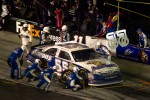 Pit stop for Mark Martin, Michael Waltrip Racing Toyota