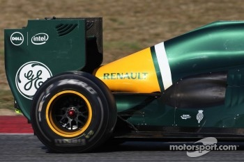 Caterham F1 Team  rear wing