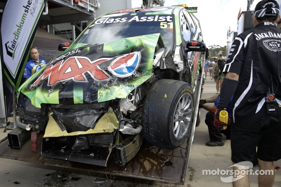 This is what was left of the #51 car after the Adelaide crash that sidelined Greg Murphy