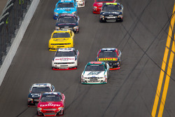 Dale Earnhardt Jr., JR Motorsports Chevrolet leads the field
