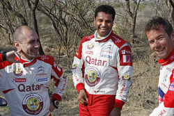 Sébastien Loeb, Citroën Total World Rally Team Giovanni Bernacchini and Nasser Al-Attiyah, Qatar World Rally Team