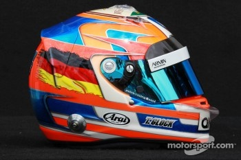 Timo Glock, Marussia F1 Team helmet 